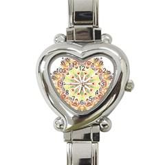 Intricate Flower Star Heart Italian Charm Watch by Alisyart