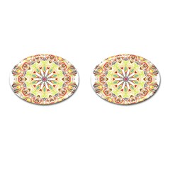 Intricate Flower Star Cufflinks (oval)
