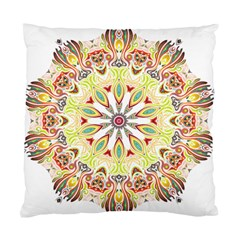 Intricate Flower Star Standard Cushion Case (one Side) by Alisyart