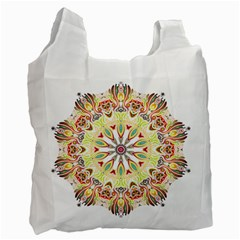 Intricate Flower Star Recycle Bag (one Side) by Alisyart