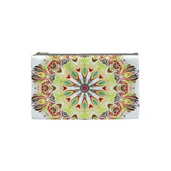 Intricate Flower Star Cosmetic Bag (small)  by Alisyart