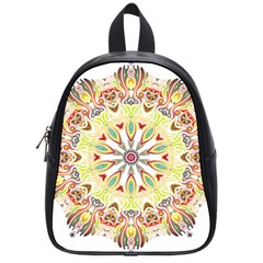 Intricate Flower Star School Bags (small)