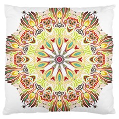 Intricate Flower Star Large Cushion Case (two Sides) by Alisyart