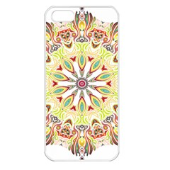 Intricate Flower Star Apple Iphone 5 Seamless Case (white)