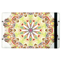 Intricate Flower Star Apple Ipad 2 Flip Case