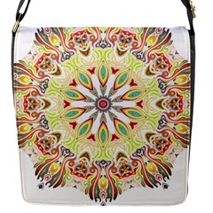 Intricate Flower Star Flap Messenger Bag (s) by Alisyart