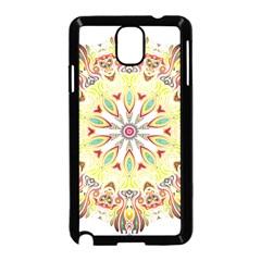 Intricate Flower Star Samsung Galaxy Note 3 Neo Hardshell Case (black)