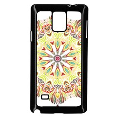 Intricate Flower Star Samsung Galaxy Note 4 Case (black)