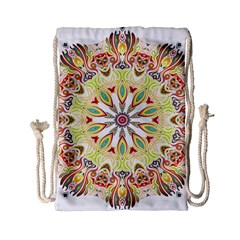 Intricate Flower Star Drawstring Bag (small) by Alisyart
