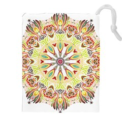 Intricate Flower Star Drawstring Pouches (xxl) by Alisyart