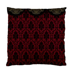Elegant Black And Red Damask Antique Vintage Victorian Lace Style Standard Cushion Case (one Side) by yoursparklingshop