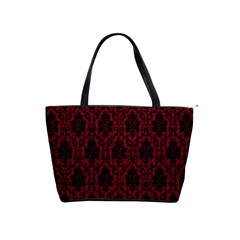 Elegant Black And Red Damask Antique Vintage Victorian Lace Style Shoulder Handbags