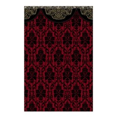 Elegant Black And Red Damask Antique Vintage Victorian Lace Style Shower Curtain 48  X 72  (small)  by yoursparklingshop