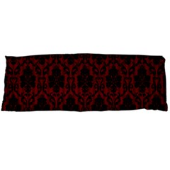 Elegant Black And Red Damask Antique Vintage Victorian Lace Style Body Pillow Case Dakimakura (two Sides)