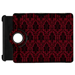 Elegant Black And Red Damask Antique Vintage Victorian Lace Style Kindle Fire Hd 7  by yoursparklingshop