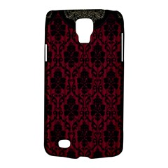 Elegant Black And Red Damask Antique Vintage Victorian Lace Style Galaxy S4 Active