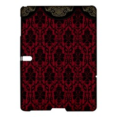 Elegant Black And Red Damask Antique Vintage Victorian Lace Style Samsung Galaxy Tab S (10 5 ) Hardshell Case  by yoursparklingshop