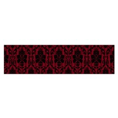 Elegant Black And Red Damask Antique Vintage Victorian Lace Style Satin Scarf (oblong)