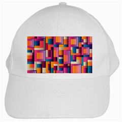 Abstract Background Geometry Blocks White Cap by Simbadda