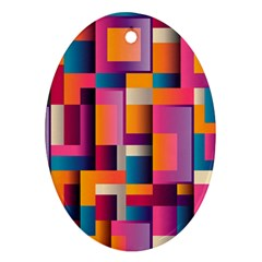 Abstract Background Geometry Blocks Ornament (oval) by Simbadda