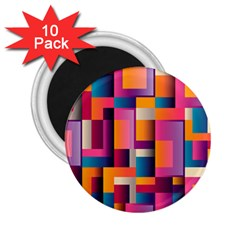 Abstract Background Geometry Blocks 2 25  Magnets (10 Pack)  by Simbadda