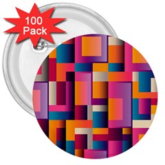Abstract Background Geometry Blocks 3  Buttons (100 Pack)  by Simbadda