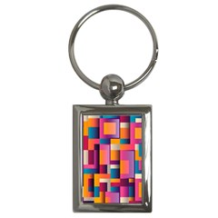 Abstract Background Geometry Blocks Key Chains (rectangle)  by Simbadda