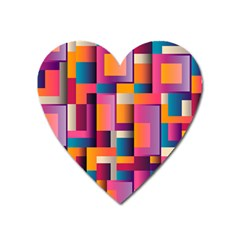 Abstract Background Geometry Blocks Heart Magnet by Simbadda