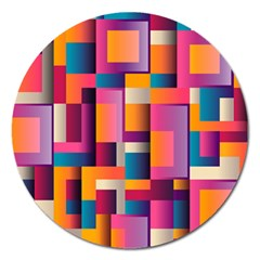 Abstract Background Geometry Blocks Magnet 5  (round) by Simbadda