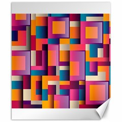 Abstract Background Geometry Blocks Canvas 8  X 10  by Simbadda