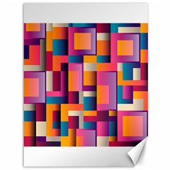 Abstract Background Geometry Blocks Canvas 36  X 48   by Simbadda