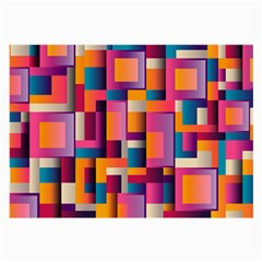 Abstract Background Geometry Blocks Large Glasses Cloth by Simbadda
