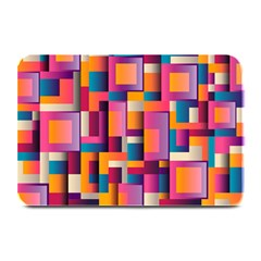 Abstract Background Geometry Blocks Plate Mats by Simbadda