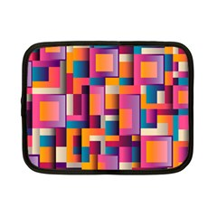 Abstract Background Geometry Blocks Netbook Case (small)  by Simbadda