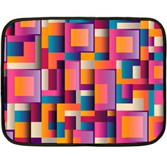 Abstract Background Geometry Blocks Fleece Blanket (mini) by Simbadda