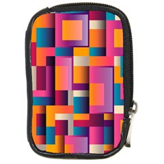 Abstract Background Geometry Blocks Compact Camera Cases by Simbadda