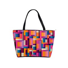 Abstract Background Geometry Blocks Shoulder Handbags by Simbadda