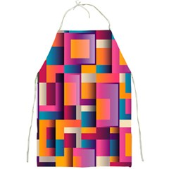 Abstract Background Geometry Blocks Full Print Aprons by Simbadda