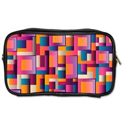 Abstract Background Geometry Blocks Toiletries Bags 2 Side by Simbadda
