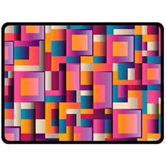Abstract Background Geometry Blocks Fleece Blanket (large)  by Simbadda