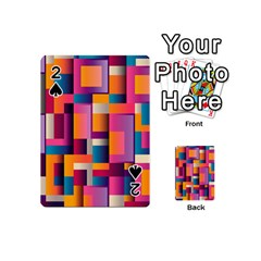 Abstract Background Geometry Blocks Playing Cards 54 (mini)  by Simbadda