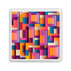 Abstract Background Geometry Blocks Memory Card Reader (square)  by Simbadda