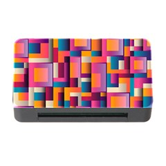 Abstract Background Geometry Blocks Memory Card Reader With Cf by Simbadda