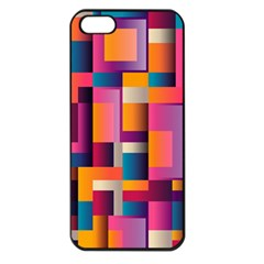 Abstract Background Geometry Blocks Apple Iphone 5 Seamless Case (black) by Simbadda