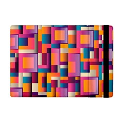 Abstract Background Geometry Blocks Apple Ipad Mini Flip Case by Simbadda