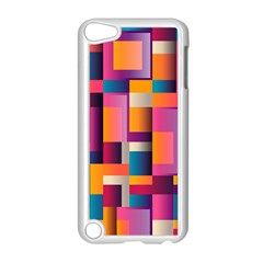 Abstract Background Geometry Blocks Apple Ipod Touch 5 Case (white) by Simbadda