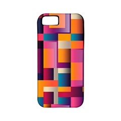 Abstract Background Geometry Blocks Apple Iphone 5 Classic Hardshell Case (pc+silicone) by Simbadda