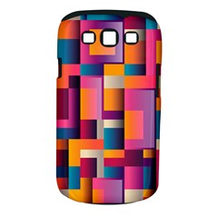Abstract Background Geometry Blocks Samsung Galaxy S Iii Classic Hardshell Case (pc+silicone) by Simbadda