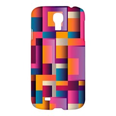 Abstract Background Geometry Blocks Samsung Galaxy S4 I9500/i9505 Hardshell Case by Simbadda
