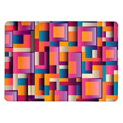 Abstract Background Geometry Blocks Samsung Galaxy Tab 10 1  P7500 Flip Case by Simbadda
